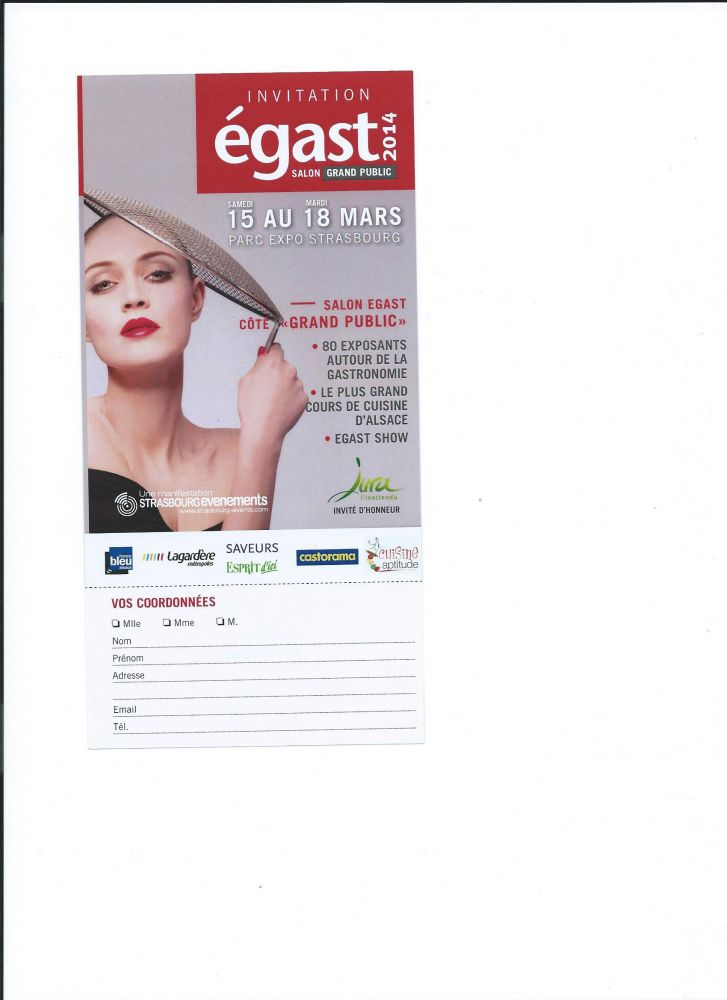 Invitation Egast Recto